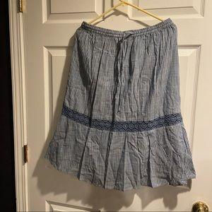 Studio west apparel blue skirt